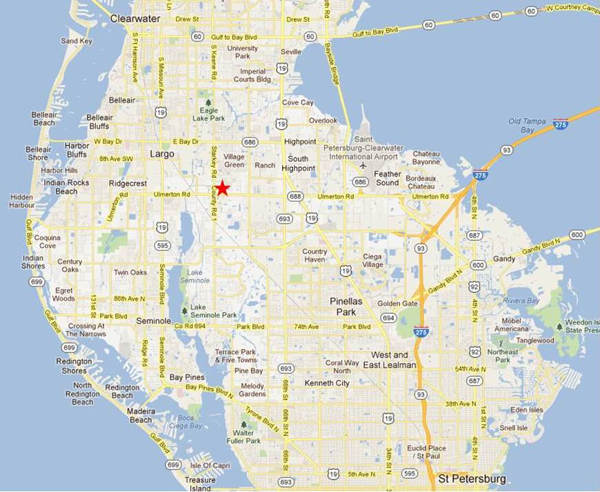 Pinellas County Map Florida.Low Cost No Cost No Needle No Scalpel Vasectomy In Pinellas County